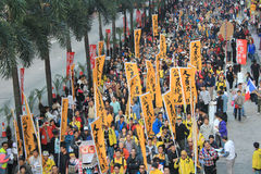 New year marches 2014 in hong kong Stock Images