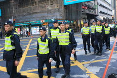 New year marches 2014 in Hong Kong Royalty Free Stock Image