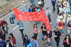 New year marches 2014 in Hong Kong Stock Image