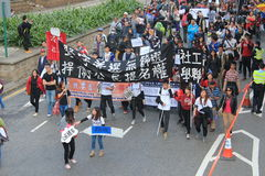 2014 New year marches in Hong Kong Royalty Free Stock Image