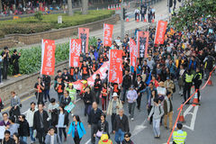 2014 New year marches in Hong Kong Stock Images