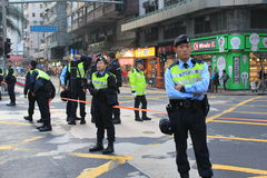 2014 New year marches in Hong Kong Stock Image