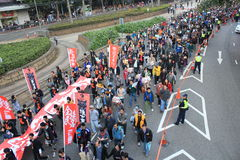 New year marches in Hong Kong 2012 Stock Image