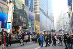 New year marches in Hong Kong 2014 Stock Photos