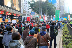 New year marches in Hong Kong 2014 Stock Image