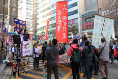 New year marches in Hong Kong 2014 Stock Photography