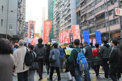 New year marches in Hong Kong 2014 Stock Images