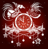 New Year masquerade Royalty Free Stock Images