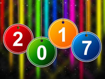 New Year Means Two Thosand Seventeen And Annual Royalty Free Stock Photo