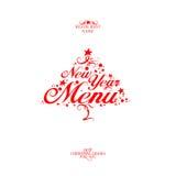 New Year menu. New Year Menu Card Design template royalty free illustration