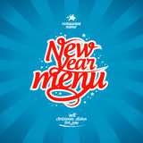 New Year menu. Stock Photography