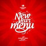 New Year menu. Royalty Free Stock Image
