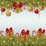 New Year and Merry Christmas greeting background Royalty Free Stock Photos