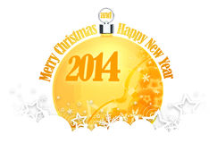 New Year 2014. Merry Christmas and Happy New Year 2014 royalty free illustration