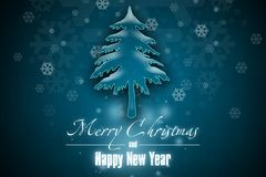 New Year 2. Merry Christmas and Happy New Year! Festive Christmas picture stock illustration