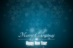 New Year 4. Merry Christmas and Happy New Year! Festive Christmas picture royalty free illustration