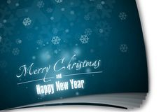 New Year 6. Merry Christmas and Happy New Year! Festive Christmas picture stock illustration