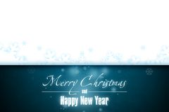 New Year 8. Merry Christmas and Happy New Year! Festive Christmas picture stock illustration