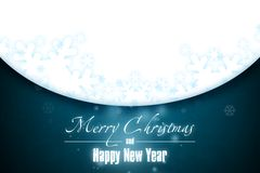 New Year 9. Merry Christmas and Happy New Year! Festive Christmas picture royalty free illustration
