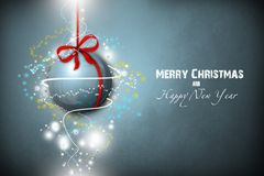 New Year 12. Merry Christmas and Happy New Year! Festive Christmas picture stock illustration