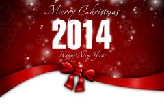 New Year 18. Merry Christmas and Happy New Year! Festive Christmas picture vector illustration