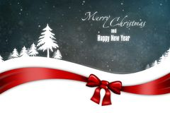 New Year 24. Merry Christmas and Happy New Year! Festive Christmas picture royalty free illustration