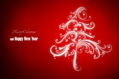 New Year 25. Merry Christmas and Happy New Year! Festive Christmas picture stock illustration