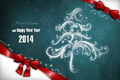 New Year 28. Merry Christmas and Happy New Year! Festive Christmas picture stock illustration