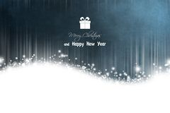 New Year 66. Merry Christmas and Happy New Year! Festive Christmas picture royalty free illustration
