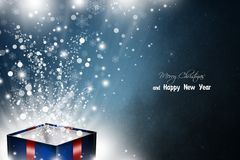 New Year 71. Merry Christmas and Happy New Year! Festive Christmas picture royalty free illustration