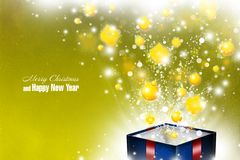 New Year 73. Merry Christmas and Happy New Year! Festive Christmas picture stock illustration