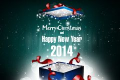 New Year 75. Merry Christmas and Happy New Year! Festive Christmas picture stock illustration