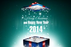New Year 76. Merry Christmas and Happy New Year! Festive Christmas picture royalty free illustration