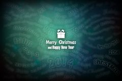 New Year 84. Merry Christmas and Happy New Year! Festive Christmas picture Stock Illustration