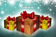 New Year 98. Merry Christmas and Happy New Year! Festive Christmas picture Stock Illustration