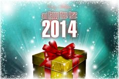 New Year 100. Merry Christmas and Happy New Year! Festive Christmas picture royalty free illustration