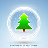 New Year 2014 and Merry Christmas postcard Royalty Free Stock Photography