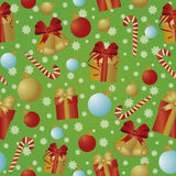 New Year and Merry Christmas seamless pattern, vector Stock Photo