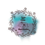 New Year message on a background of water color isolated icon de. Sign, vector illustration graphic stock illustration