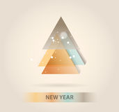 New year message banner, abstract Stock Photo
