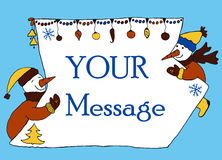 New year message banner, hand drawn Stock Photography