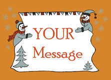 New year message banner, hand drawn Royalty Free Stock Photos
