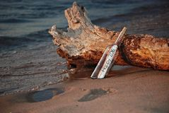 New Year 2016 message in a bottle Stock Images