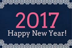 New Year Message on Dark Background Design Royalty Free Stock Photo