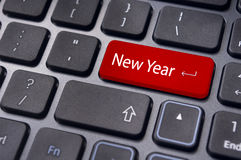 New year message, keyboard pad Royalty Free Stock Photo
