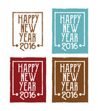 New year message label set. Abstract illustration stock illustration