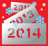New year metallic plate 2014. Vector New year metallic plate 2014 Stock Photography