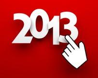 New Year metaphor. New Year 2013 card. New Year metaphor Vector Illustration
