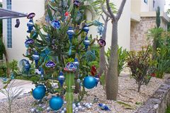 New year in Mexico. New Year decorations in Mexico stock image