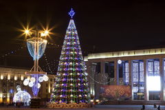 New year 2016 in Minsk Stock Photo